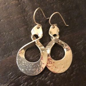 Jewelry - Sterling silver eternity twist earrings